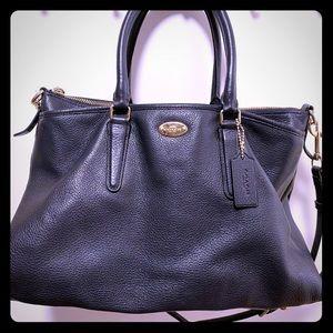 Coach navy blue purse
